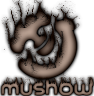 mushow logo burnt