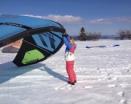 ČP ve snowkitingu day one