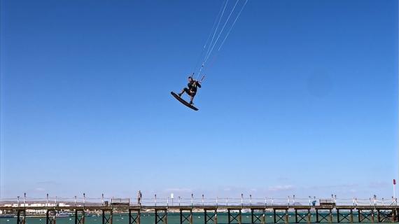 Grby testuje létavost nového stroje