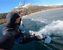 Kiteboarding, icekiting 2 in 1